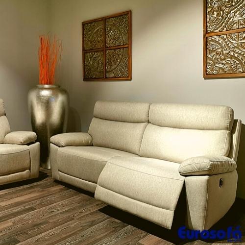 sofa de dos plazas en tela relax electrico
