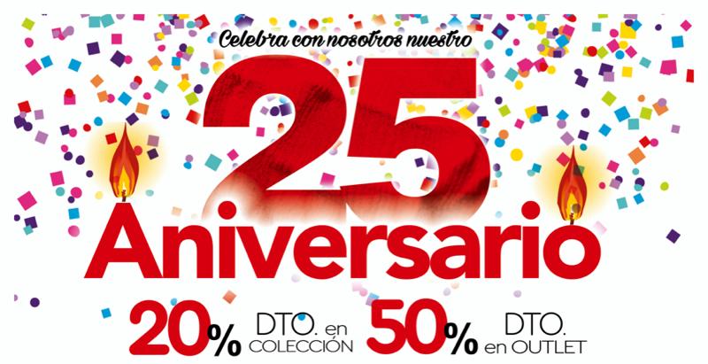 ven a celebrar nuestro 25  aniversario con grandes descuentos