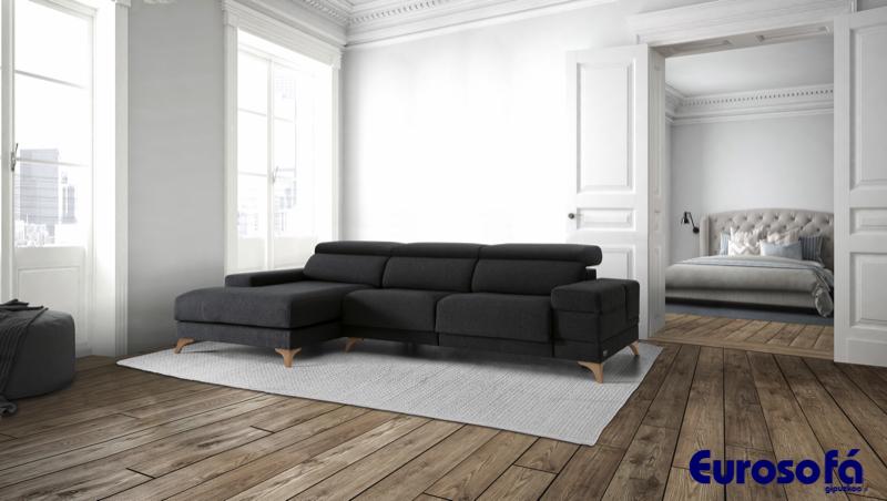 sofá de 3 plazas con chaise longue
